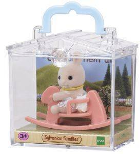 SYLVANIAN FAMILIES BABY CARRY CASE (RABBIT ON ROCKING HORSE) [4391R1]