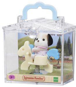 SYLVANIAN FAMILIES BABY CARRY CASE (BEAGLE DOG ON PONY RIDE) [4391R1]