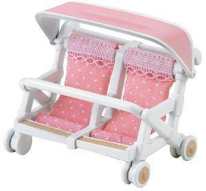 SYLVANIAN FAMILIES DOUBLE PUSHCHAIR [4533]