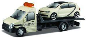 STREET FIRE FLATBED TRANSPORTER VW POLO GTI MARK 5 BBURAGO ΜΕΤΑΛΛΙΚΟ ΑΝΤΙΓΡΑΦΟ 1:43 [18/31403]