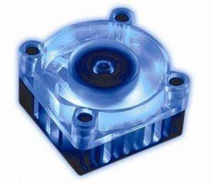 AKASA AK-210 CHIPSET COOLER WITH 4CM BLUE LED FANS