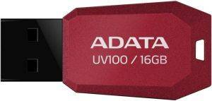 ADATA DASHDRIVE UV100 16GB USB2.0 FLASH DRIVE RED