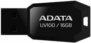 ADATA DASHDRIVE UV100 16GB USB2.0 FLASH DRIVE BLACK