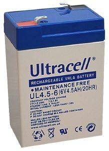ULTRACELL UL4.5-6 6V/4.5AH REPLACEMENT BATTERY