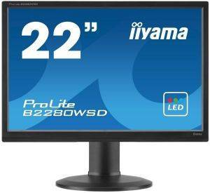 IIYAMA PROLITE B2280WSD 22'' LED MONITOR WITH SPEAKERS BLACK