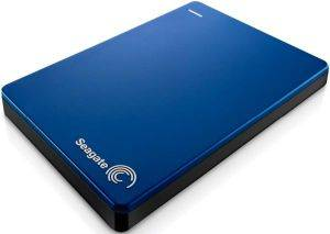 SEAGATE STDR2000202 BACKUP PLUS SLIM PORTABLE DRIVE 2TB USB3.0 BLUE