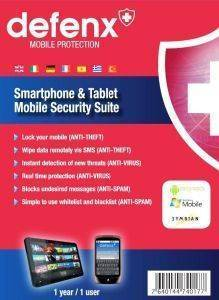 DEFENX SMARTPHONE AND TABLET SECURITY SUITE 2013 1 USER 1 YEAR