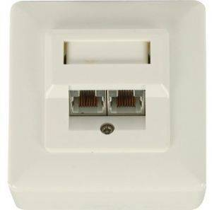 VALUELINE VLCP89150I RJ45 WALL PLATE WITH 2XRJ45 SLOTS
