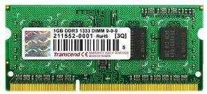 RAM TRANSCEND TS128MSK64V3U 1GB SO-DIMM DDR3 1333MHZ