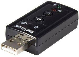 SOUND CARD STARTECH VIRTUAL 7.1 USB STEREO AUDIO ADAPTER EXTERNAL
