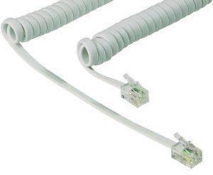 VALUELINE VLTP90100W2.00 MODULAR HANDSET COILED EXTENSION CORD 2M WHITE