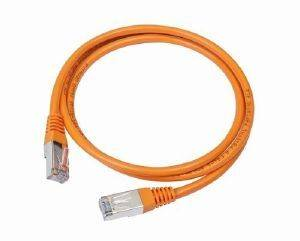 CABLEXPERT PP22-0.5M/O ORANGE FTP PATCH CORD MOLDED STRAIN RELIEF 50U PLUGS 0.5M