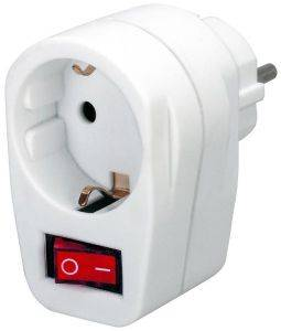 BRENNENSTUHL ADAPTER WHITE ΜΕ ΔΙΑΚΟΠΤΗ