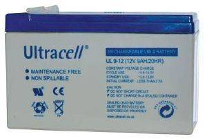 ULTRACELL UL9-12 12V/9AH REPLACEMENT BATTERY