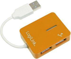 LOGILINK UA0137 SMILE USB 2.0 4-PORT HUB ORANGE