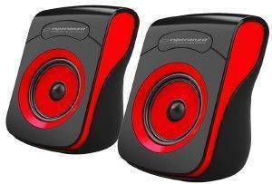 ESPERANZA EP140KR FLAMENCO 2.0 USB STEREO SPEAKERS BLACK/RED
