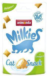SNACK ΓΑΤΑΣ ANIMONDA MILKIES CRUNCHY PILLOW BALANCE 30GR