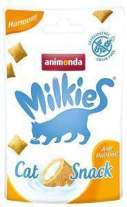 SNACK ΓΑΤΑΣ ANIMONDA MILKIES CRUNCHY PILLOW HARMONY 30GR