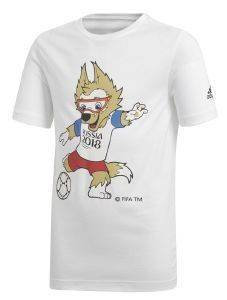 ΜΠΛΟΥΖΑ ADIDAS PERFORMANCE FIFA WORLD CUP MASCOT TEE ΛΕΥΚΗ (164 CM)