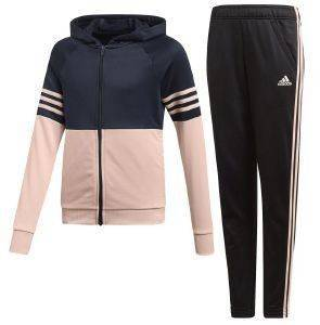 ΦΟΡΜΑ ADIDAS PERFORMANCE HOODED TRACK SUIT ΜΑΥΡΗ/ΡΟΖ