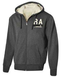 ΖΑΚΕΤΑ RUSSELL ATHLETIC ZIP THROUGH SHERPA LINED HOODY ΑΝΘΡΑΚΙ
