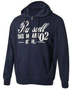 ΖΑΚΕΤΑ RUSSELL ATHLETIC ZIP THROUGH HOODY GRAPHIC ΜΠΛΕ ΣΚΟΥΡΟ