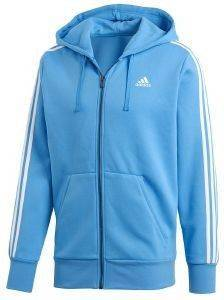 ΖΑΚΕΤΑ ADIDAS PERFORMANCE ESSENTIALS 3S FZ HOODED TRACK TOP ΓΑΛΑΖΙΑ