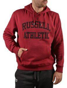 ΦΟΥΤΕΡ RUSSELL ATHLETIC PULL OVER HOODY TACKLE TWILL ΜΠΟΡΝΤΩ