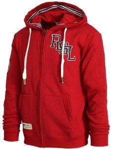 ΖΑΚΕΤΑ RUSSELL ATHLETIC RSL LOGO ZIP THROUGH HOODY ΚΟΚΚΙΝΗ