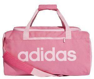 ΤΣΑΝΤΑ ADIDAS PERFORMANCE ESSENTIALS LINEAR CORE DUFFEL BAG SMALL ΡΟΖ