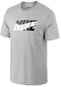 ΜΠΛΟΥΖΑ NIKE DRI-FIT BLOCK T-SHIRT ΓΚΡΙ