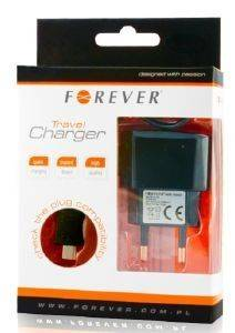 FOREVER TRAVEL CHARGER FOR IPHONE 1100MAH BOX