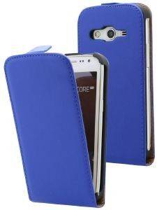 LEATHER CASE ELEGANCE FOR SAMSUNG I9082 BLUE