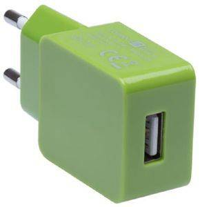 CONNECT IT CI-595 USB WALL CHARGER 1A COLOUR LINE GREEN