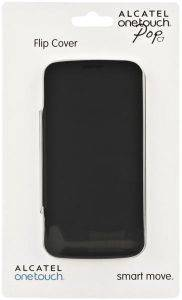 ALCATEL LEATHER FLIPCOVER FC7040 FOR ONE TOUCH POP C7 BLUISH BLACK