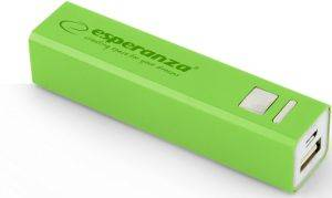 ESPERANZA EMP102G POWER BANK ERG 2400MAH GREEN