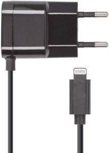 FOREVER IPHONE 5/6/7 WALL CHARGER 1A BLACK