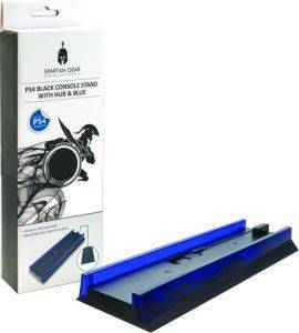 SPARTAN GEAR CONSOLE VERTICAL STAND BLACK WITH HUB & BLUE LIGHT