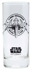STAR WARS - GLASS X-WING 290ML