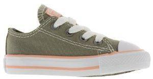 SNEAKERS CONVERSE ALL STAR  CHUCK TAYLOR OX 760103C-324 ΧΑΚΙ/ΡΟΖ
