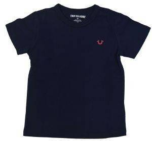 T-SHIRT TRUE RELIGION BRANDED LOGO TR136TE39 ΣΚΟΥΡΟ ΜΠΛΕ