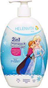 ΣΑΜΠΟΥΑΝ-ΑΦΡΟΛΟΥΤΡΟ HELENVITA KIDS 2 IN 1 SHAMPOO & SHOWER GEL FROZEN 500ML [5213000524000]