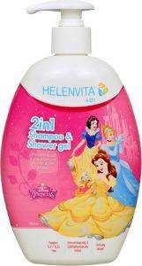 ΣΑΜΠΟΥΑΝ-ΑΦΡΟΛΟΥΤΡΟ HELENVITA KIDS 2 IN 1 SHAMPOO & SHOWER GEL PRINCESS 500ML [5213000524031]