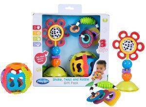 ΣΕΤ ΠΑΙΧΝΙΔΙΩΝ PLAYGRO SHAKE,TWIST AND RATTLE GIFT PACK 3ΤΜΧ