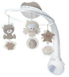 ΜΟΥΣΙΚΟ ΚΟΥΝΙΑΣ INFANTINO PROJECTOR 3 IN 1 MUSICAL MOBILE ECRU