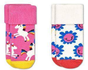 ΚΑΛΤΣΕΣ HAPPY SOCKS 2 PACK KIDS UNICORN TERRY SOCKS KUNI45-3300 2TMX